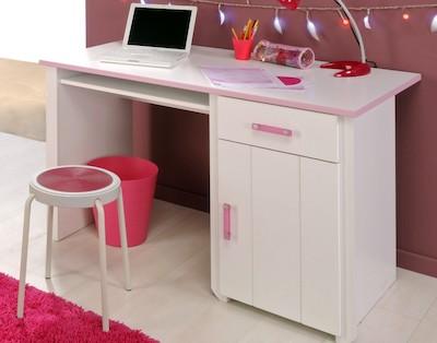 Kinderschreibtisch rosa für Mädchen