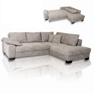 Ecksofa luna - grau-weiß - liegefunktion  Eine Funktionsecke günstig online kaufen | Möbelhaus ROLLER