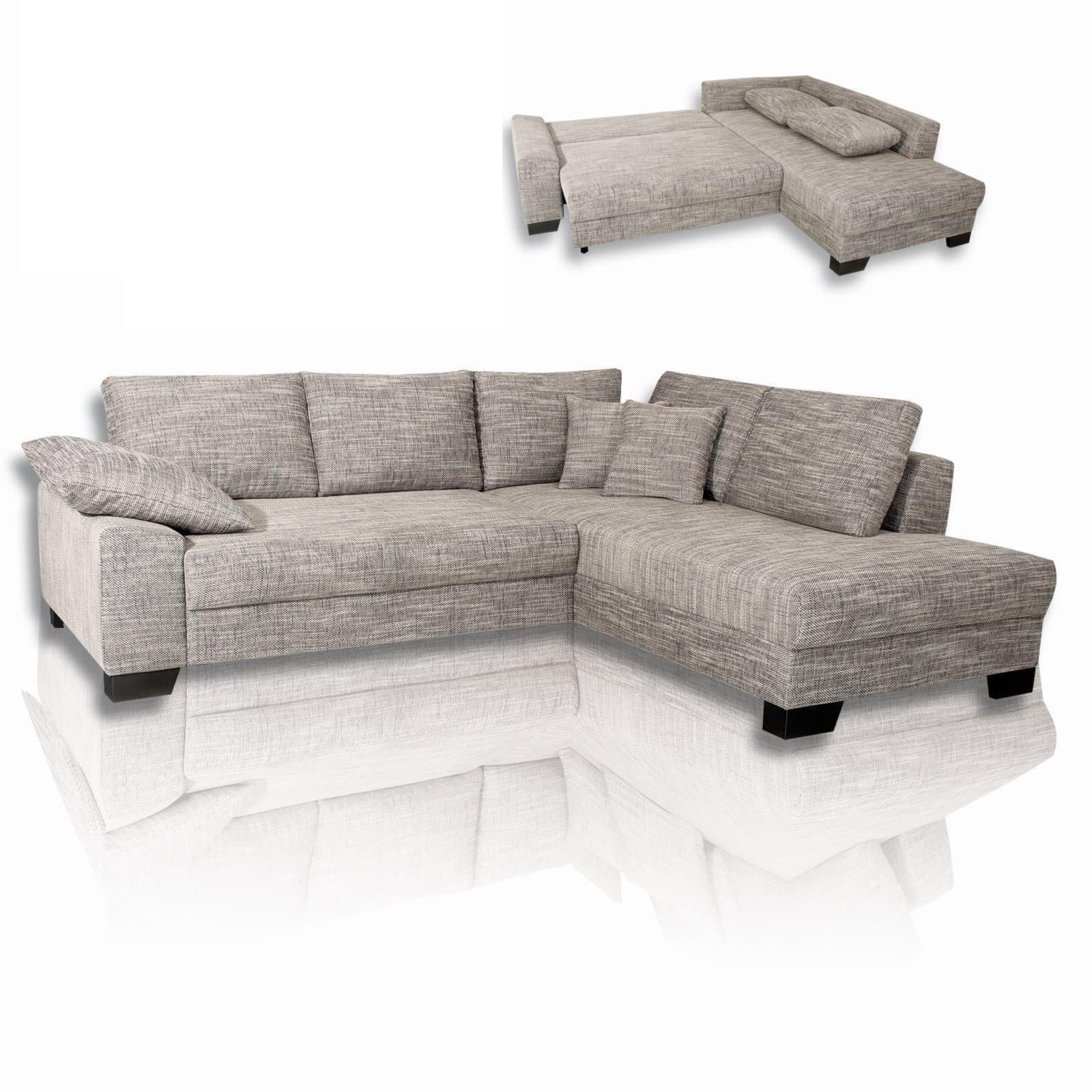ecksofa grau liegefunktion beidseitig montierbar ecksofas l form sofas couches. Black Bedroom Furniture Sets. Home Design Ideas