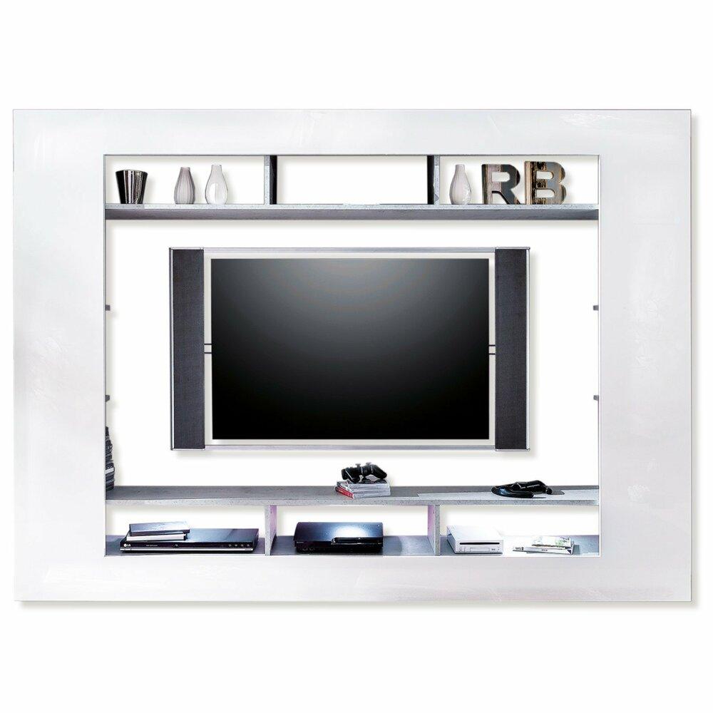 tv wand speed wei hochglanz 216x160 cm tv w nde. Black Bedroom Furniture Sets. Home Design Ideas