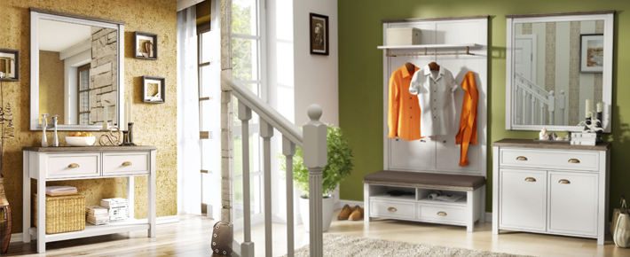 Garderobe chateau garderobenprogramme flur diele for Garderobe zumba