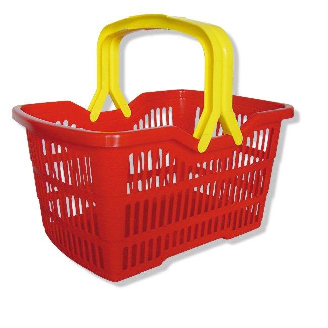 einkaufskorb carolina rot gelb 25 liter volumen einkaufsk rbe taschen aufbewahrung. Black Bedroom Furniture Sets. Home Design Ideas