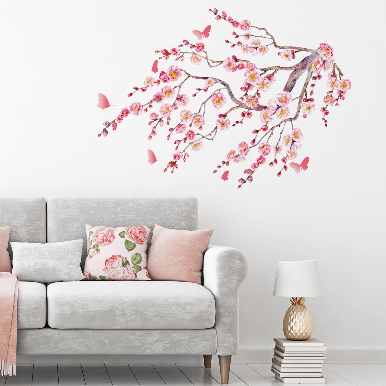 Wandtattoo Pink Kischbluten Motiv Selbstklebend Online Bei Roller Kaufen