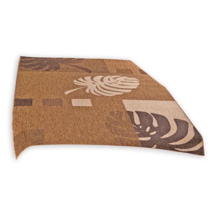 Teppich OSLO  braun  Blätter  200×290 cm  Gemusterte