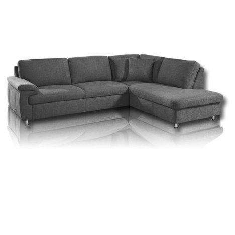 ecksofa grau armlehne links ecksofas l form sofas couches m bel roller m belhaus. Black Bedroom Furniture Sets. Home Design Ideas