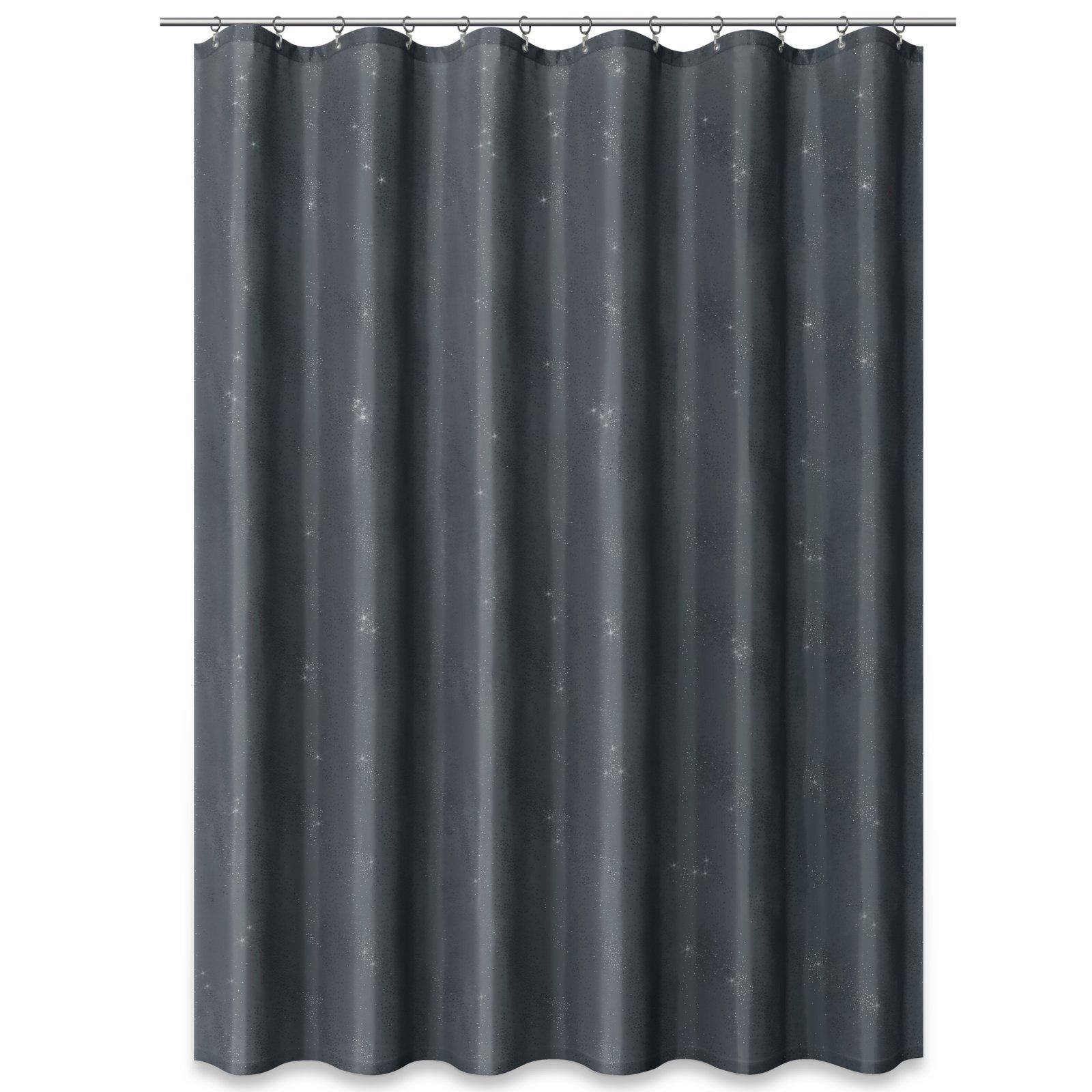 duschvorhang grau mit glitzer 180x200 cm duschvorh nge rollos badezimmer. Black Bedroom Furniture Sets. Home Design Ideas