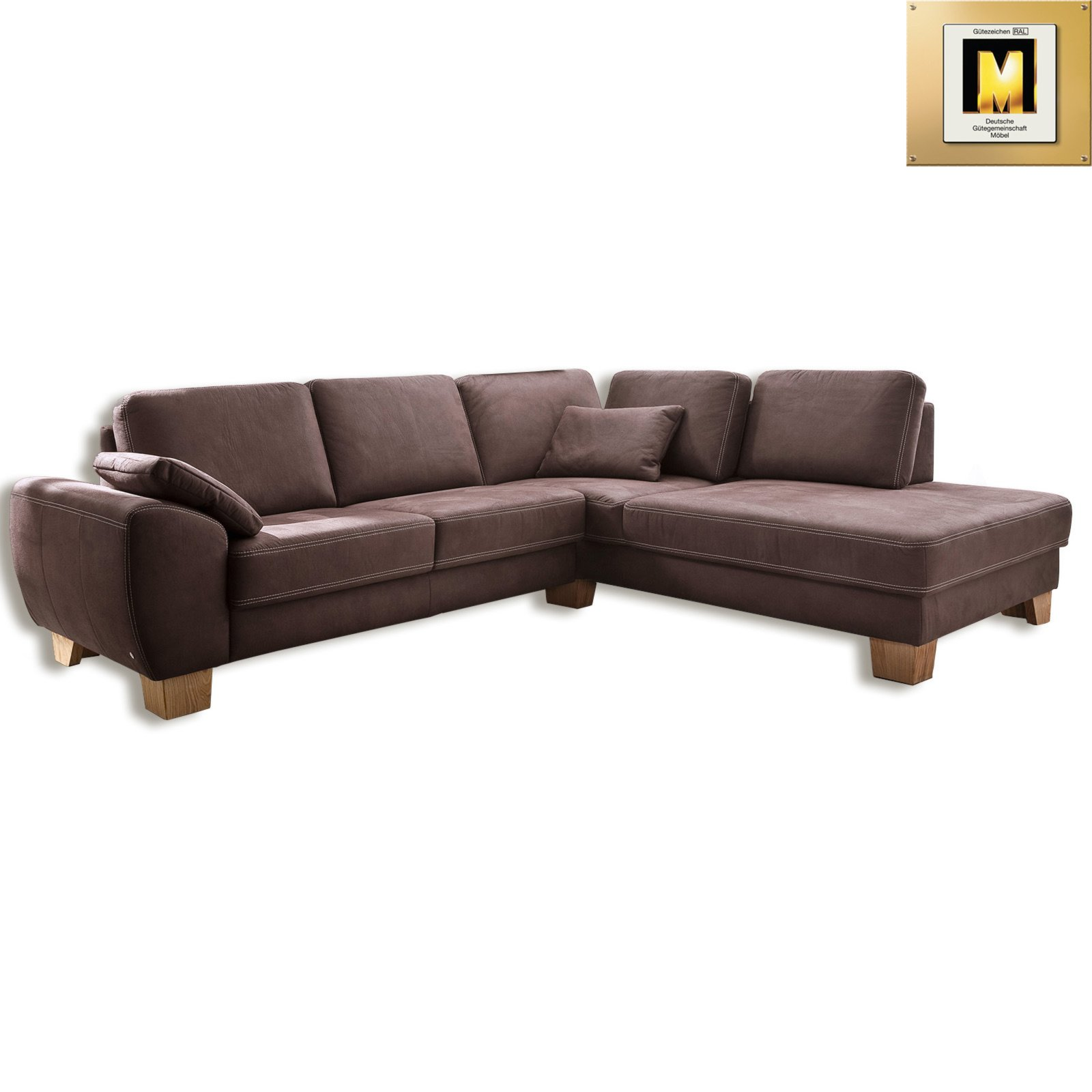 ecksofa braun microfaser ecksofas l form sofas couches m bel roller m belhaus. Black Bedroom Furniture Sets. Home Design Ideas