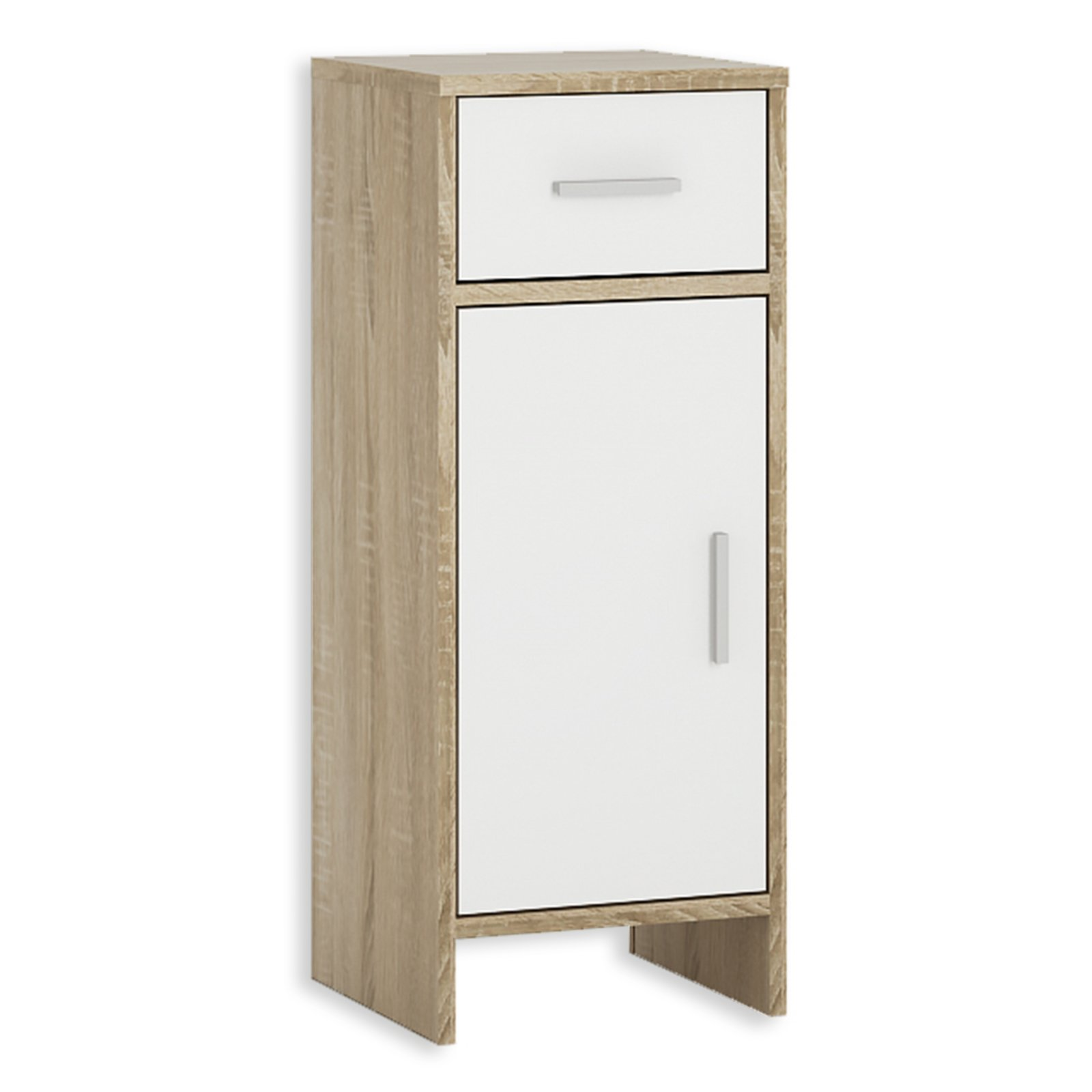 unterschrank lilly wei sonoma eiche 1 schubkasten 32 cm badezimmer hoch midischr nke. Black Bedroom Furniture Sets. Home Design Ideas