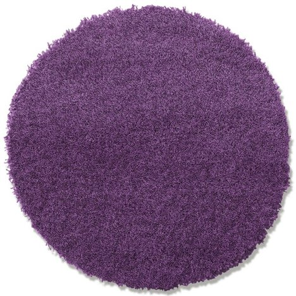 teppich shaggy plus lila rund 67 cm hochflor shaggyteppiche teppiche l ufer. Black Bedroom Furniture Sets. Home Design Ideas