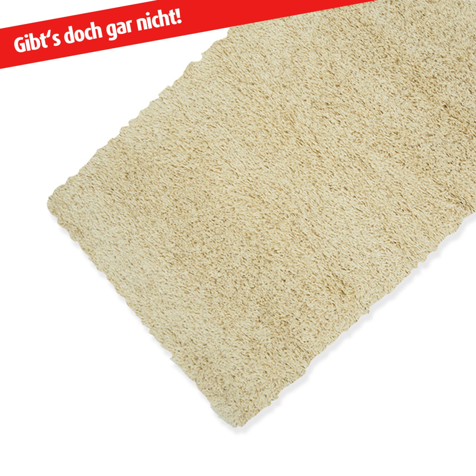 Teppich SHAGGY - cream - 50x100 cm