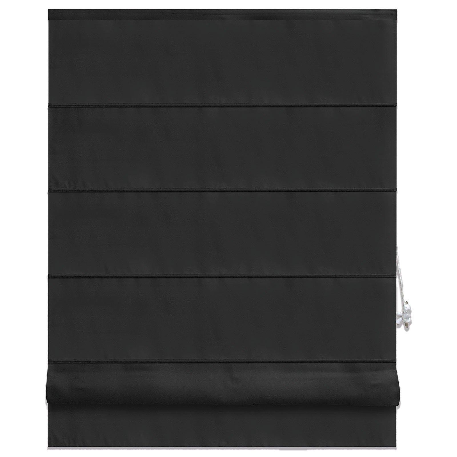 raffrollo pacific anthrazit 100x160 cm sichtschutz raffrollos raffrollos rollos. Black Bedroom Furniture Sets. Home Design Ideas