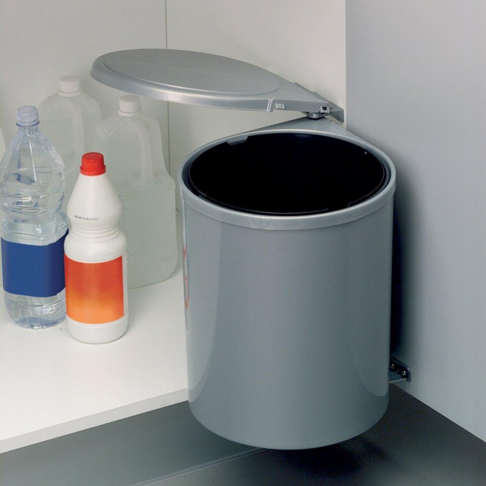 einbau m lleimer grau kunststoff 13 liter m lleimer haushalts k chenzubeh r deko. Black Bedroom Furniture Sets. Home Design Ideas