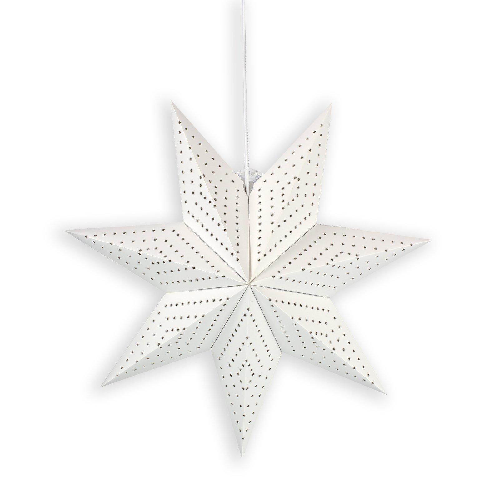 Deko-Pendelleuchte Stern - weiß - Ø 43 cm