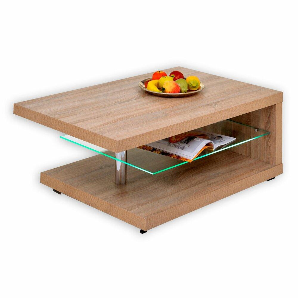 couchtisch rimini sonoma eiche mit beleuchtung couchtische wohnzimmer wohnbereiche. Black Bedroom Furniture Sets. Home Design Ideas