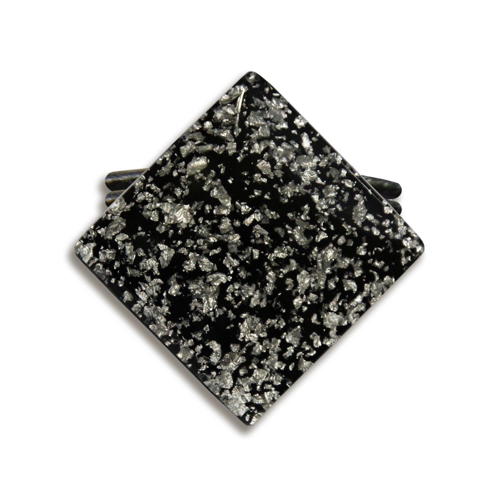 raffhalter perlmutt schwarz wei 6 5 cm. Black Bedroom Furniture Sets. Home Design Ideas
