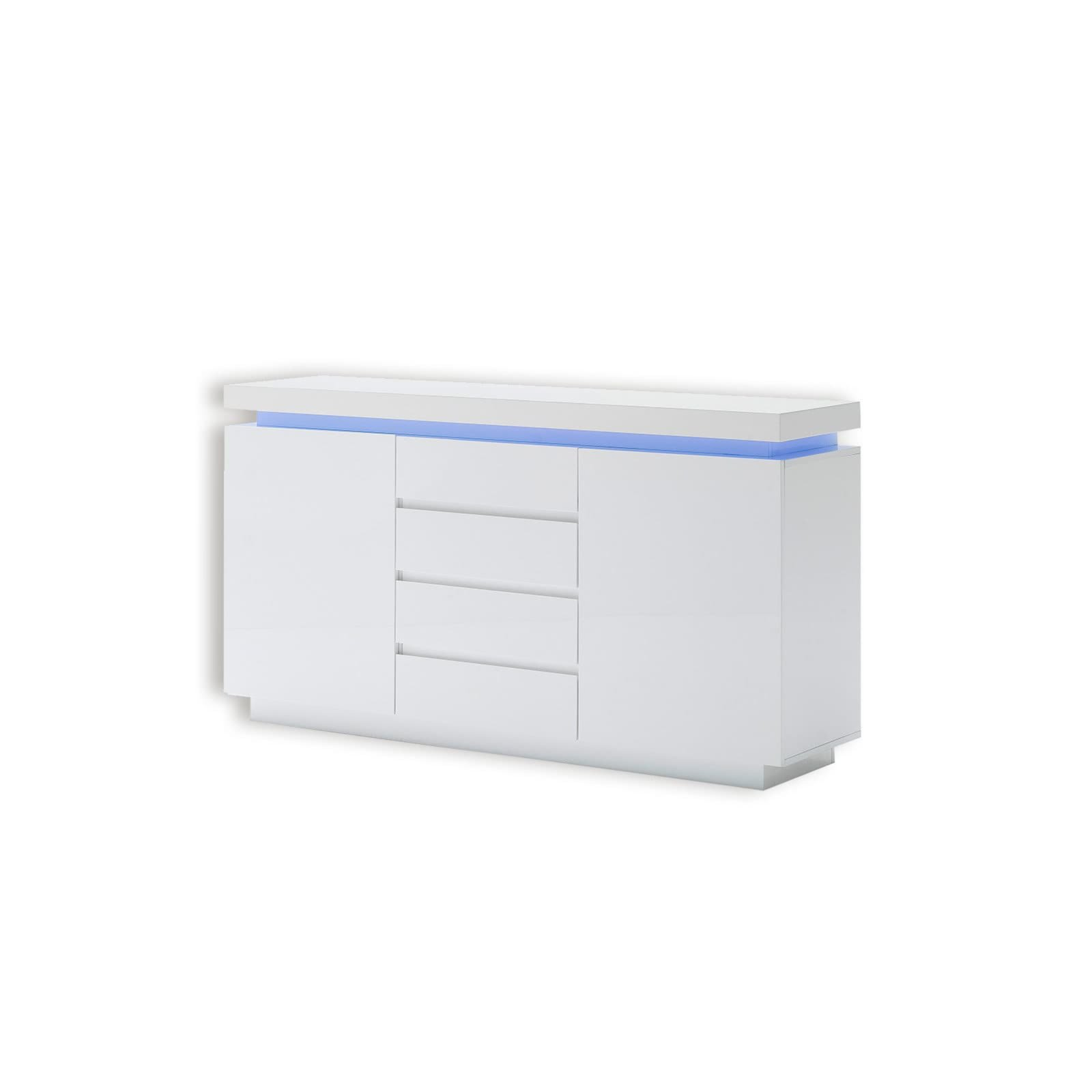 Sideboard ocean i wei led rgb beleuchtung kommoden for Sideboard 3 meter lang