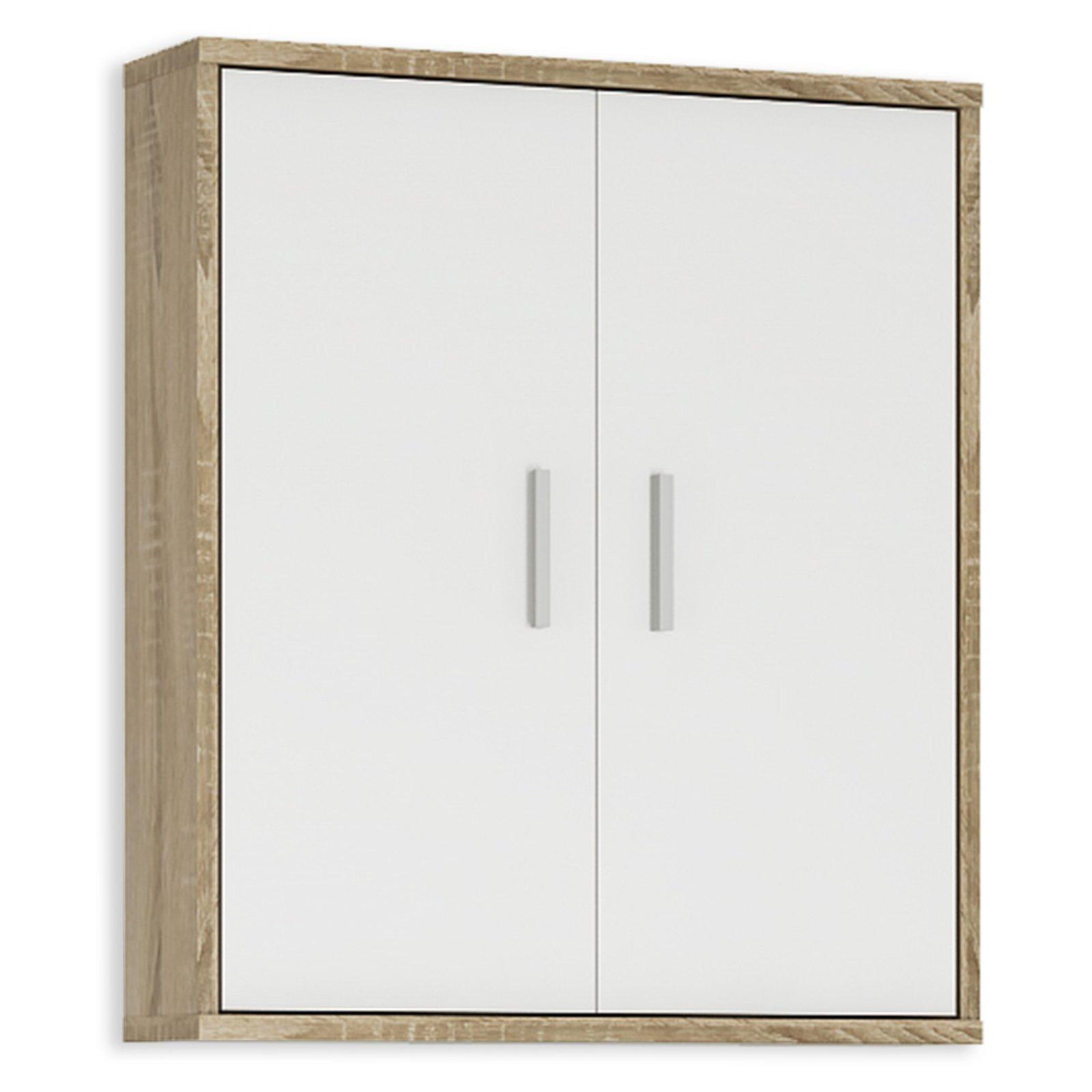 h ngeschrank lilly wei sonoma eiche 61 cm ebay. Black Bedroom Furniture Sets. Home Design Ideas