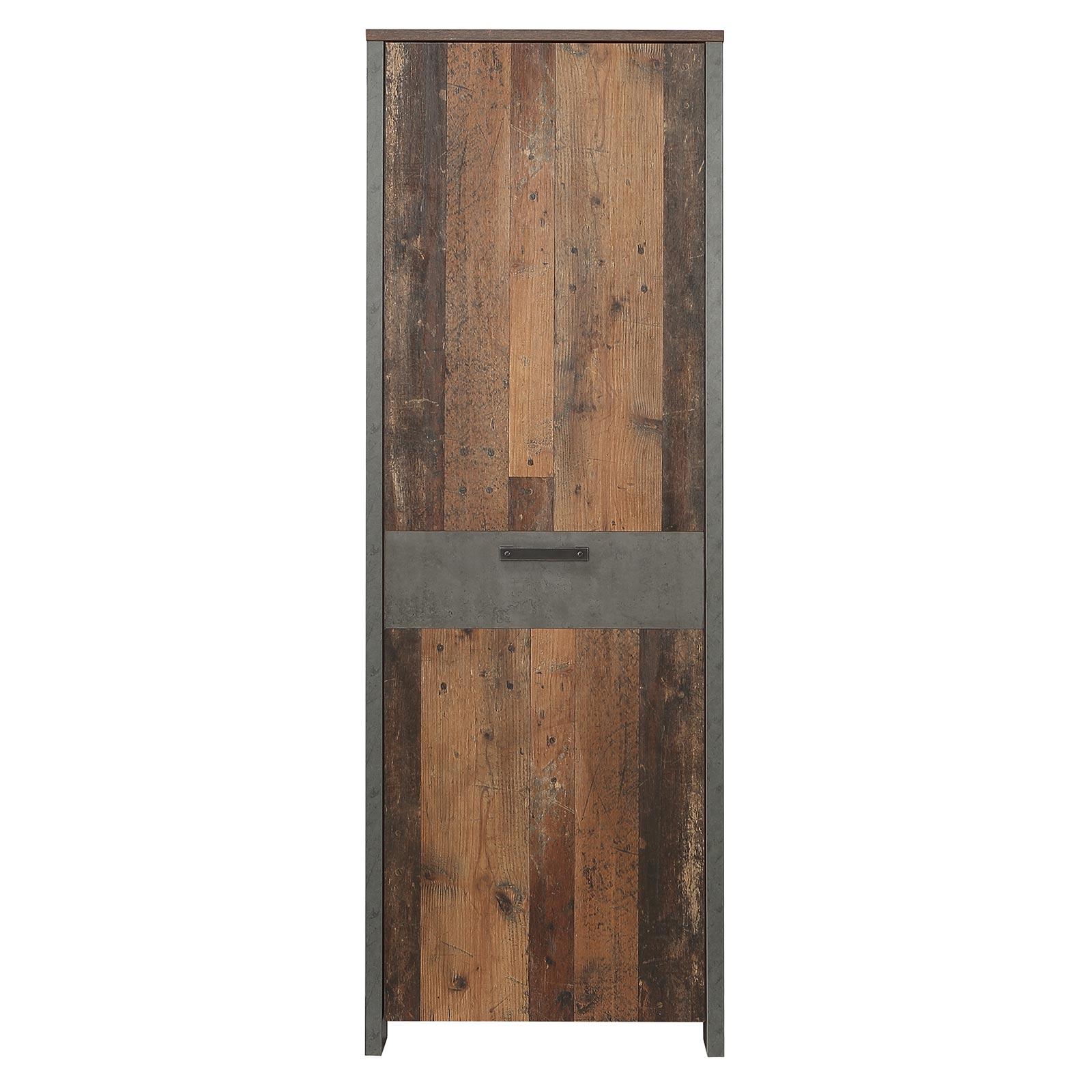 Garderobenschrank Old Wood Vintage Betonoptik