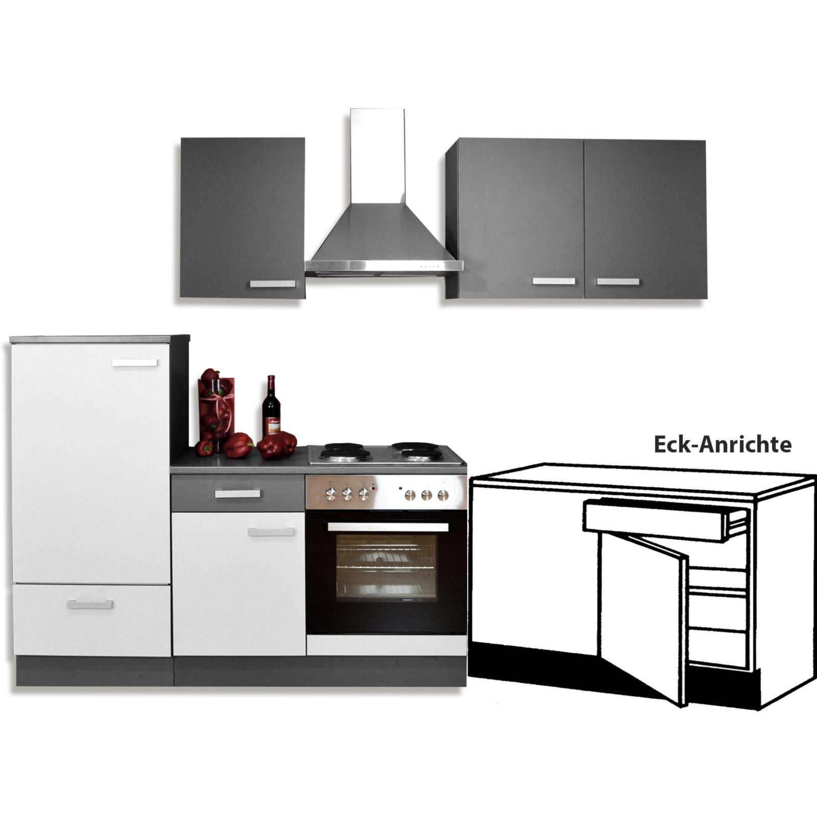 eck anrichte greta graphit 100x86 cm k che greta schrankserien k chenschr nke m bel. Black Bedroom Furniture Sets. Home Design Ideas