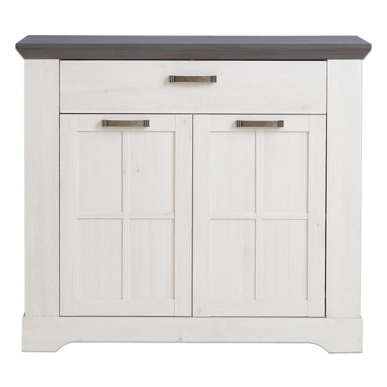 kommode gasparo schneeeiche pinie grau 105 cm breit kommoden sideboards m bel. Black Bedroom Furniture Sets. Home Design Ideas