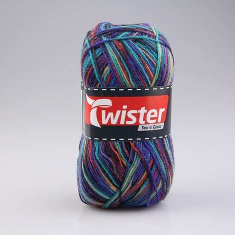 Wolle TWISTER SOX COLOR - marine multi - 100g
