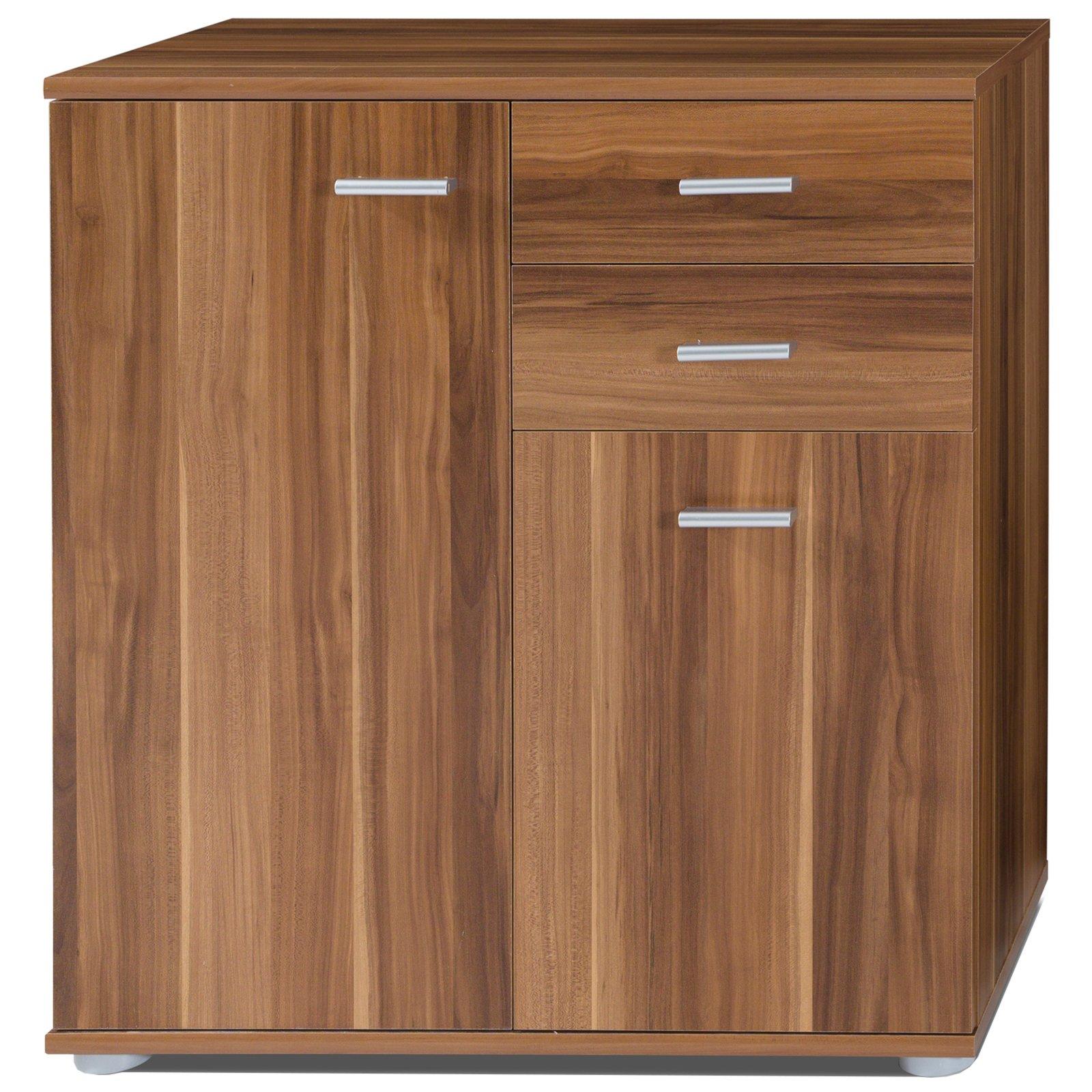 kommode mike 2 nussbaum t ren und schubladen 71 cm kommoden sideboards m bel. Black Bedroom Furniture Sets. Home Design Ideas
