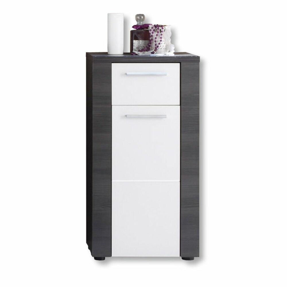 Unterschrank xpress esche grau wei 40 cm badezimmer for Badezimmer unterschrank grau