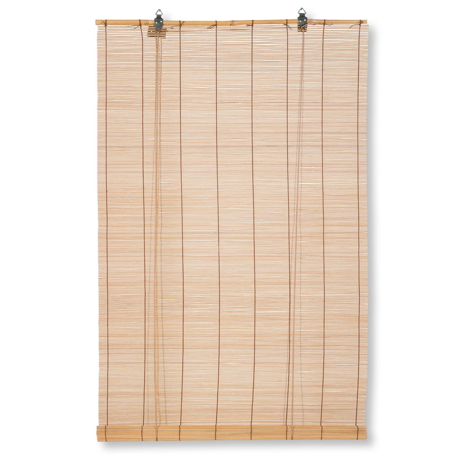 Bambus-Raffrollo - hellbraun - 80x160 cm