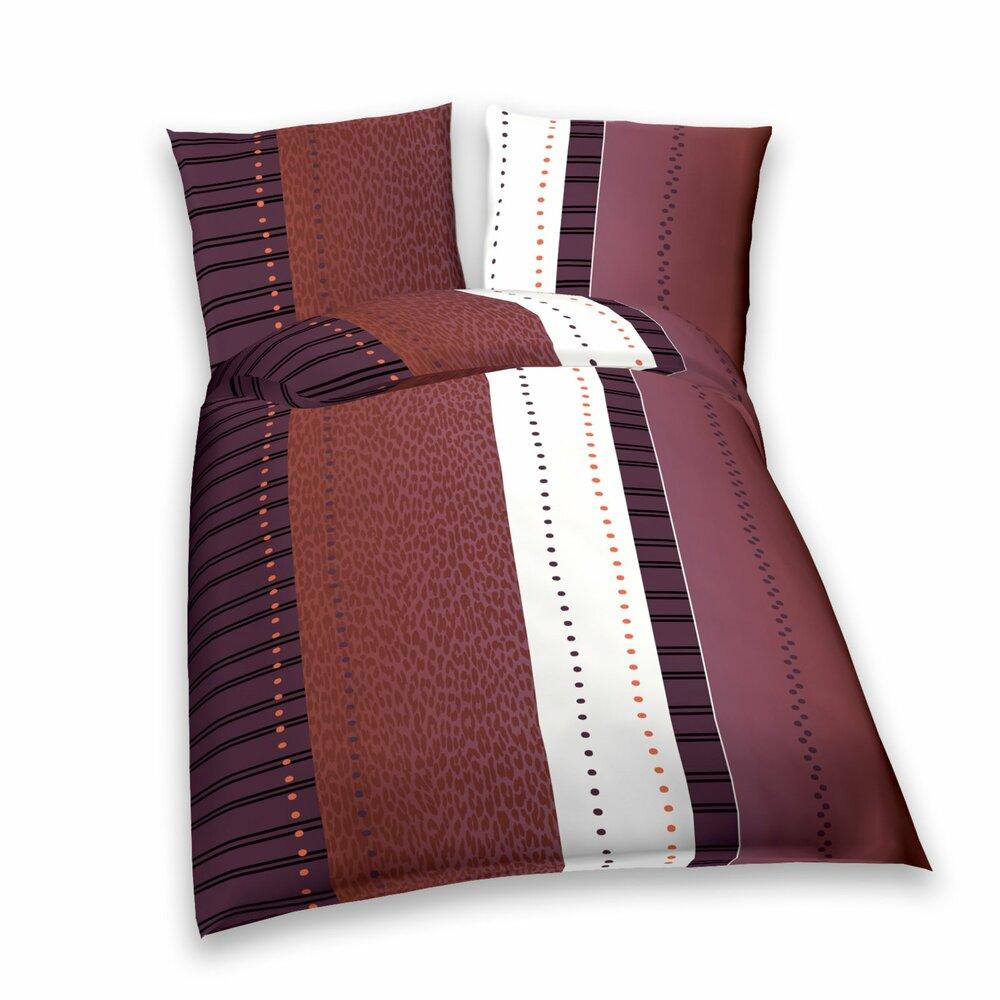 baumwoll bettw sche colorful braun wei 135x200 cm bettw sche bettw sche bettlaken. Black Bedroom Furniture Sets. Home Design Ideas