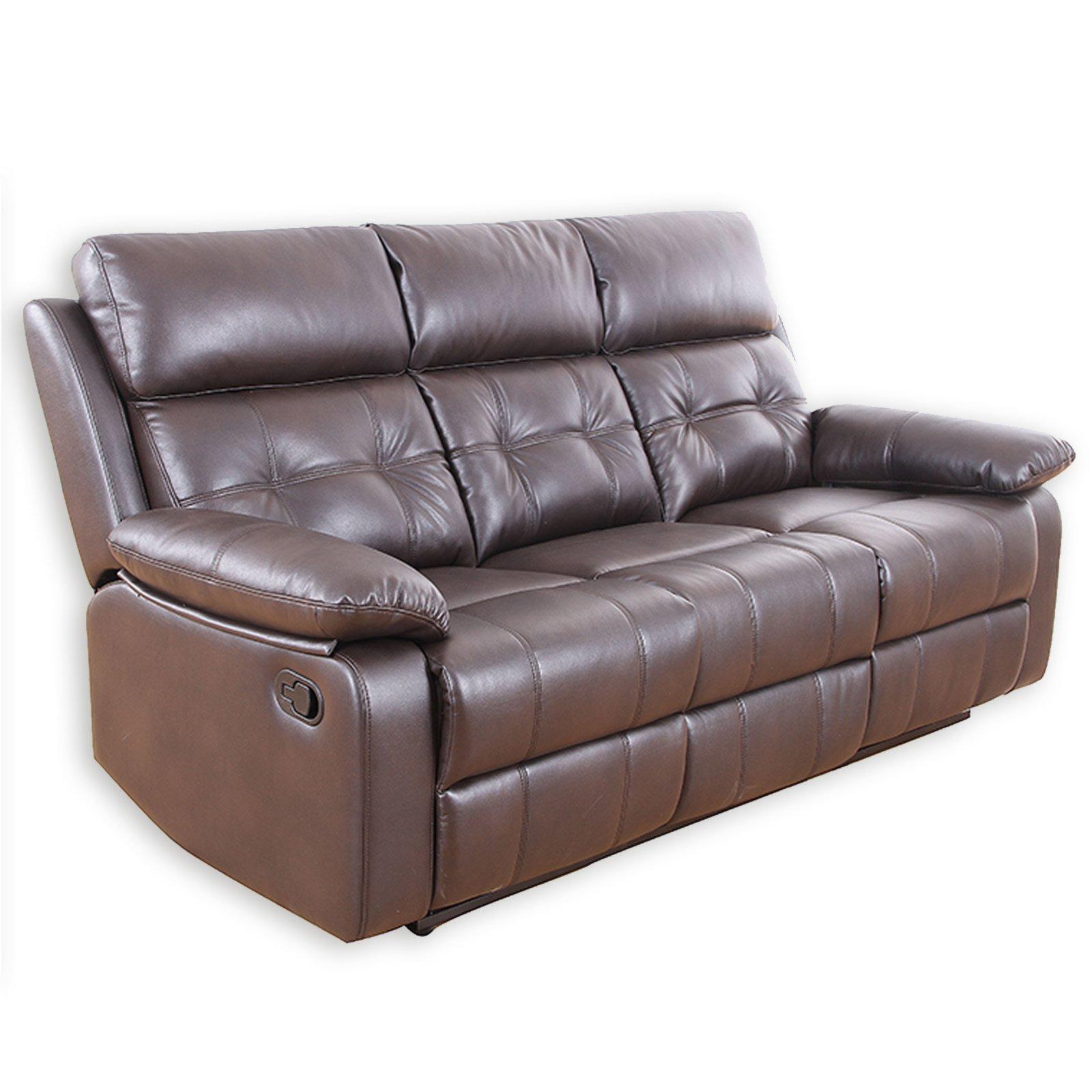 Geräumig 3 Sitzer Couch Das Beste Von 3-sitzer Sofa - Dunkelbraun - Kunstleder -