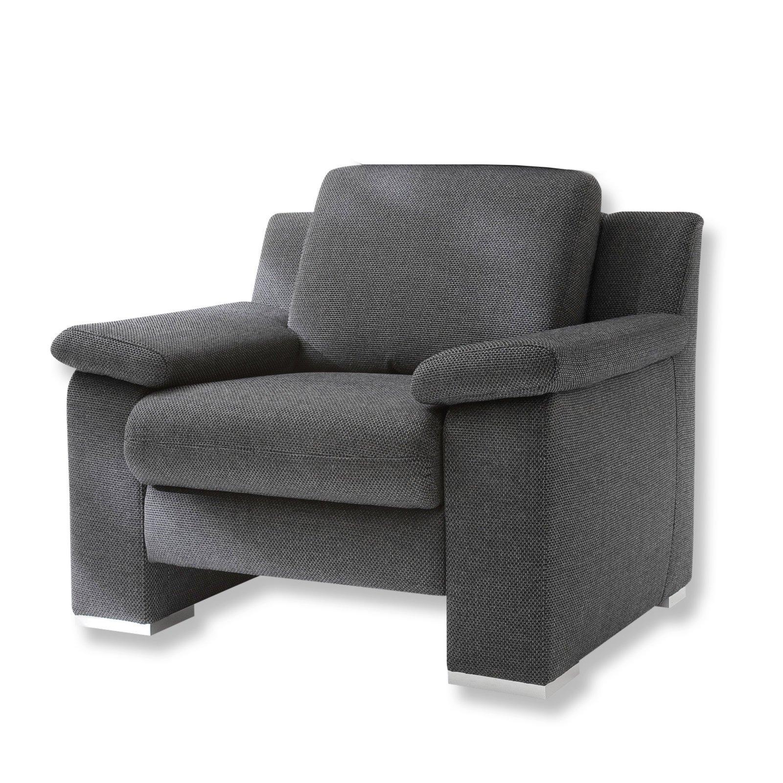 sessel grau mit metallf en fernseh relaxsessel sessel hocker m bel roller. Black Bedroom Furniture Sets. Home Design Ideas