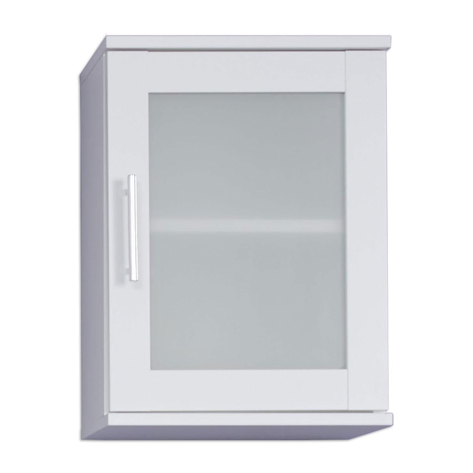 Hängeschrank - weiß - Glas satiniert - 35 cm breit