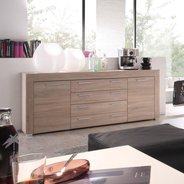 roller sideboard boom eiche s gerau hell ebay. Black Bedroom Furniture Sets. Home Design Ideas