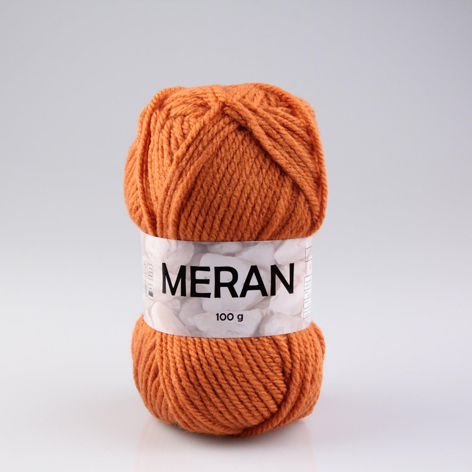 Wolle MERAN - kürbis - 100g
