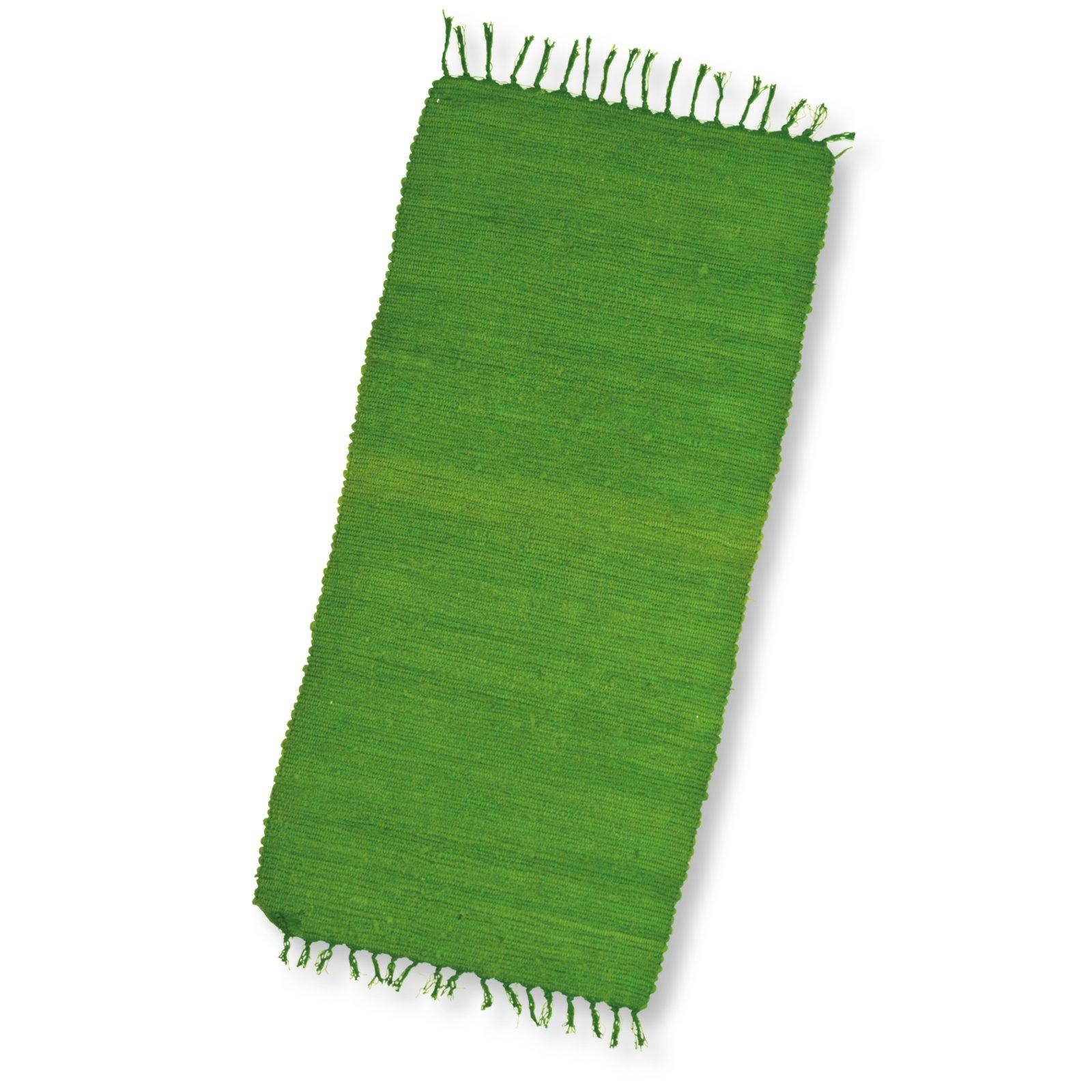 Teppich CALIFORNIEN  65×130 cm  Apfelgrün  Einfarbige