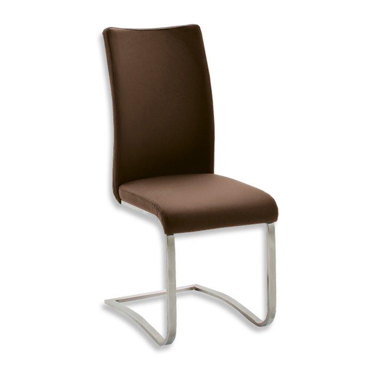 schwingstuhl arco i braun kunstleder freischwinger. Black Bedroom Furniture Sets. Home Design Ideas