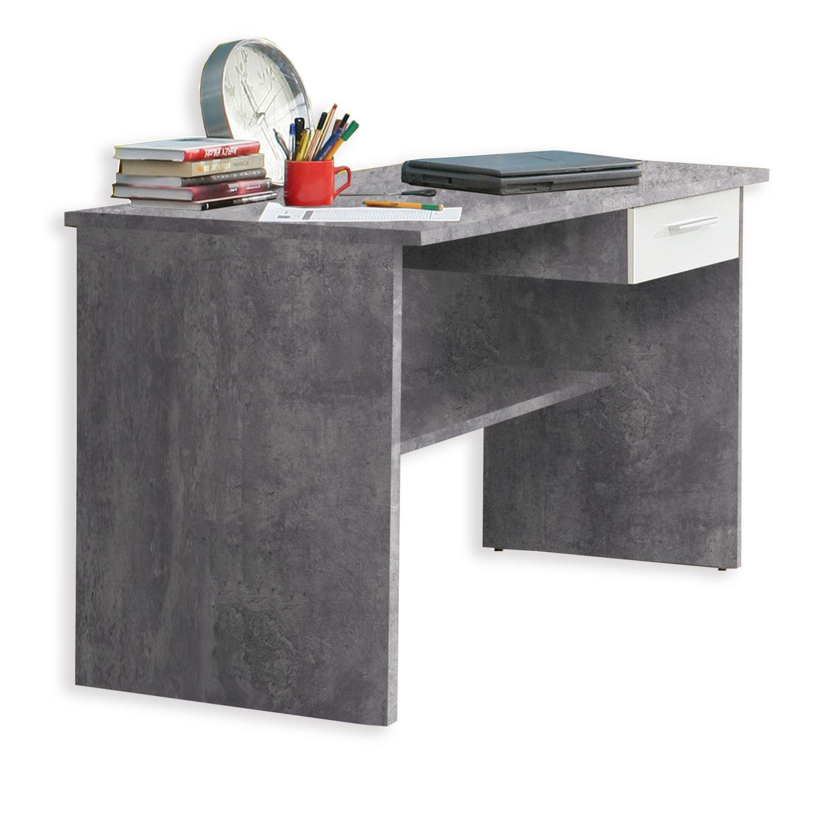 schreibtisch lupo betonoptik 110 cm jugendzimmer lupo kinder jugendzimmer programme. Black Bedroom Furniture Sets. Home Design Ideas