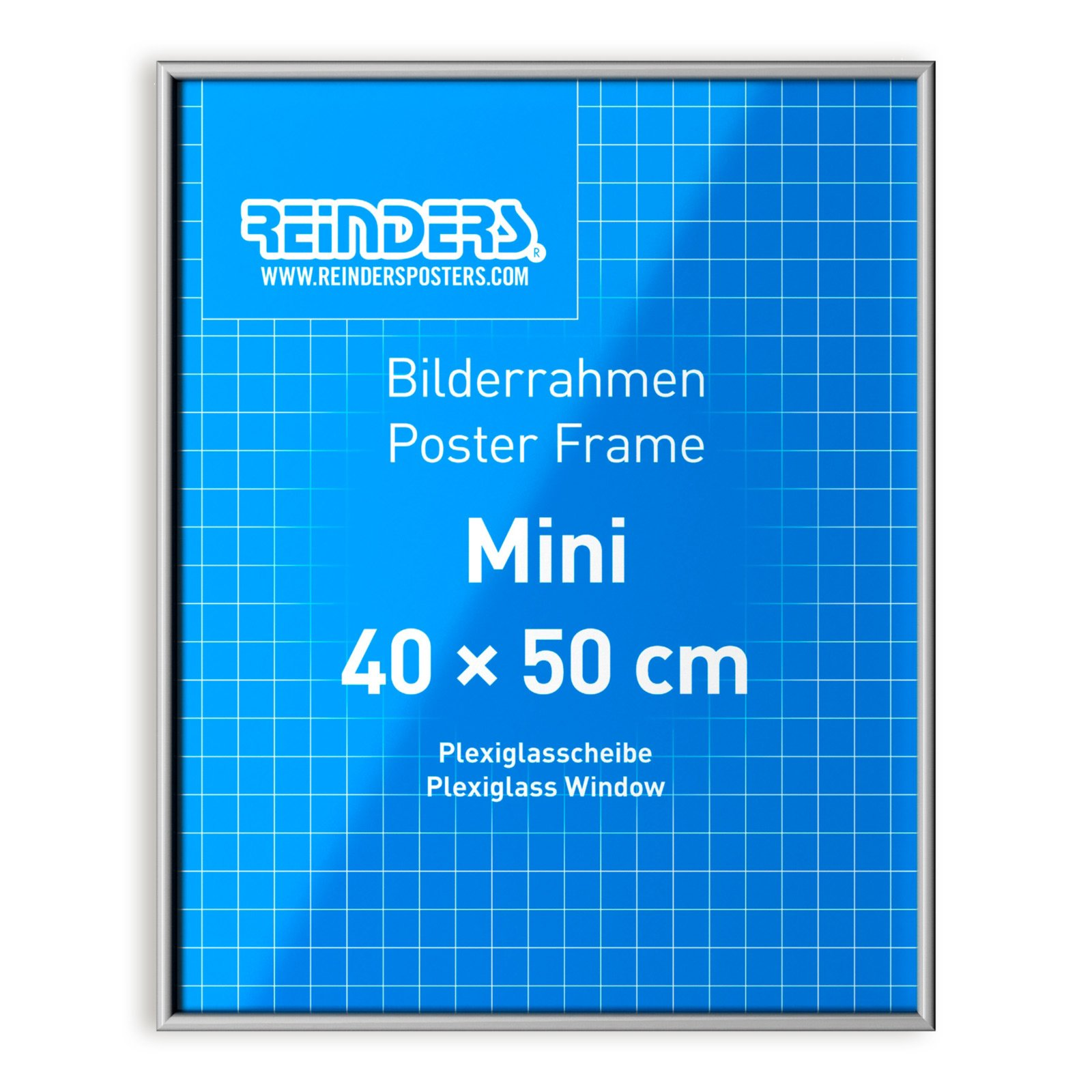 poster bilderrahmen silber 40x50cm posterrahmen deko artikel deko haushalt roller. Black Bedroom Furniture Sets. Home Design Ideas