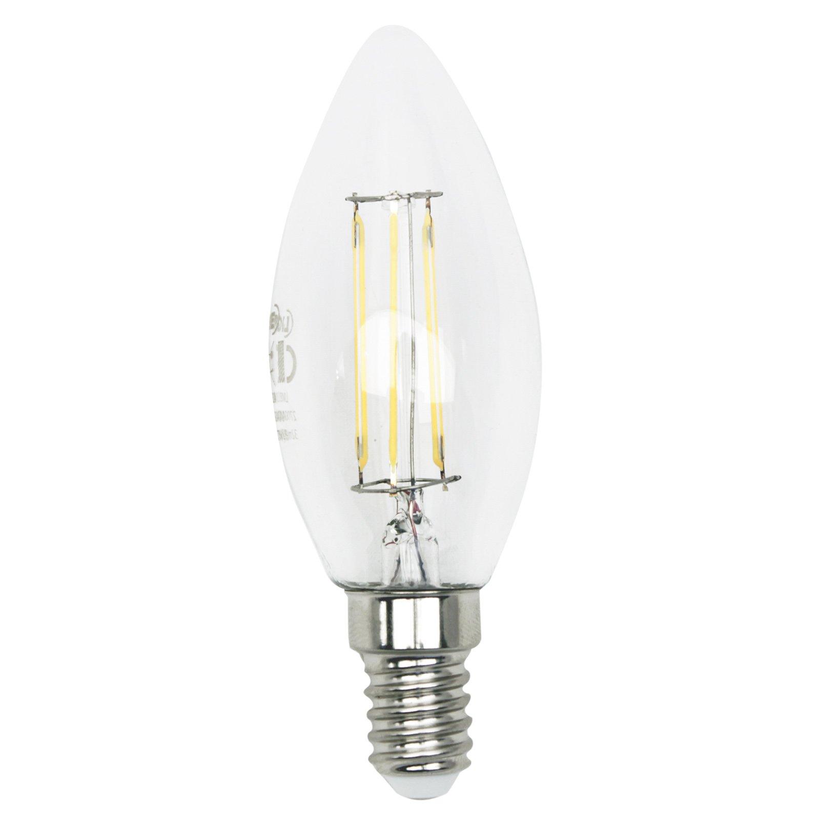 led kerzenlampe filament lightme e14 4 watt warmwei gl hbirnen leuchtmittel. Black Bedroom Furniture Sets. Home Design Ideas
