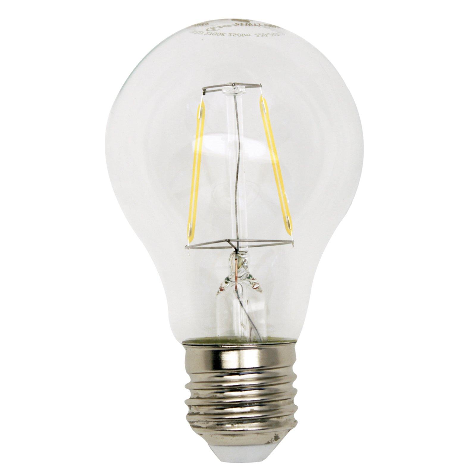 led gl hlampe filament lightme e27 2 5 watt warmwei. Black Bedroom Furniture Sets. Home Design Ideas