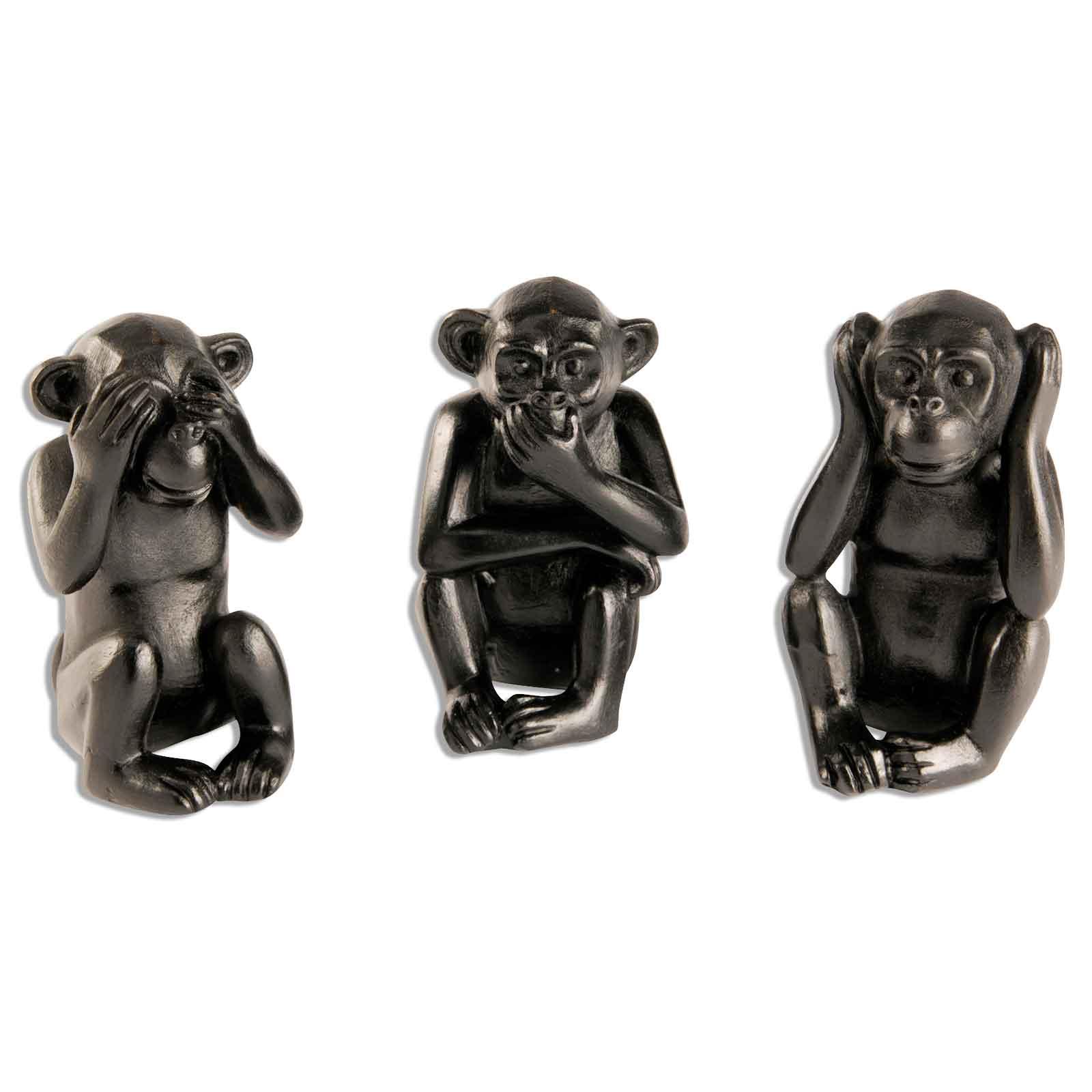 Dekofigur Affe Nichts Hören Sehen Oder Sagen Polystone