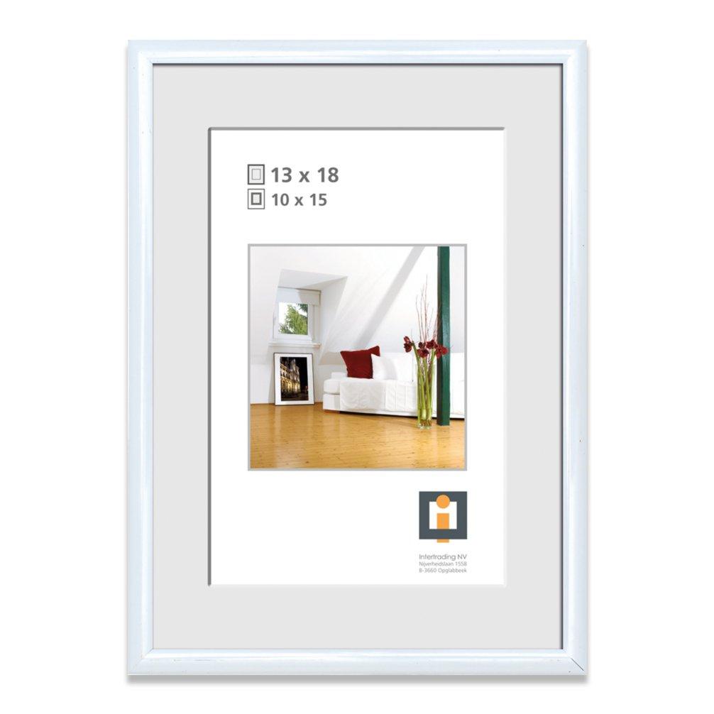 Bilderrahmen - weiß - Kunststoff - 13x18 cm