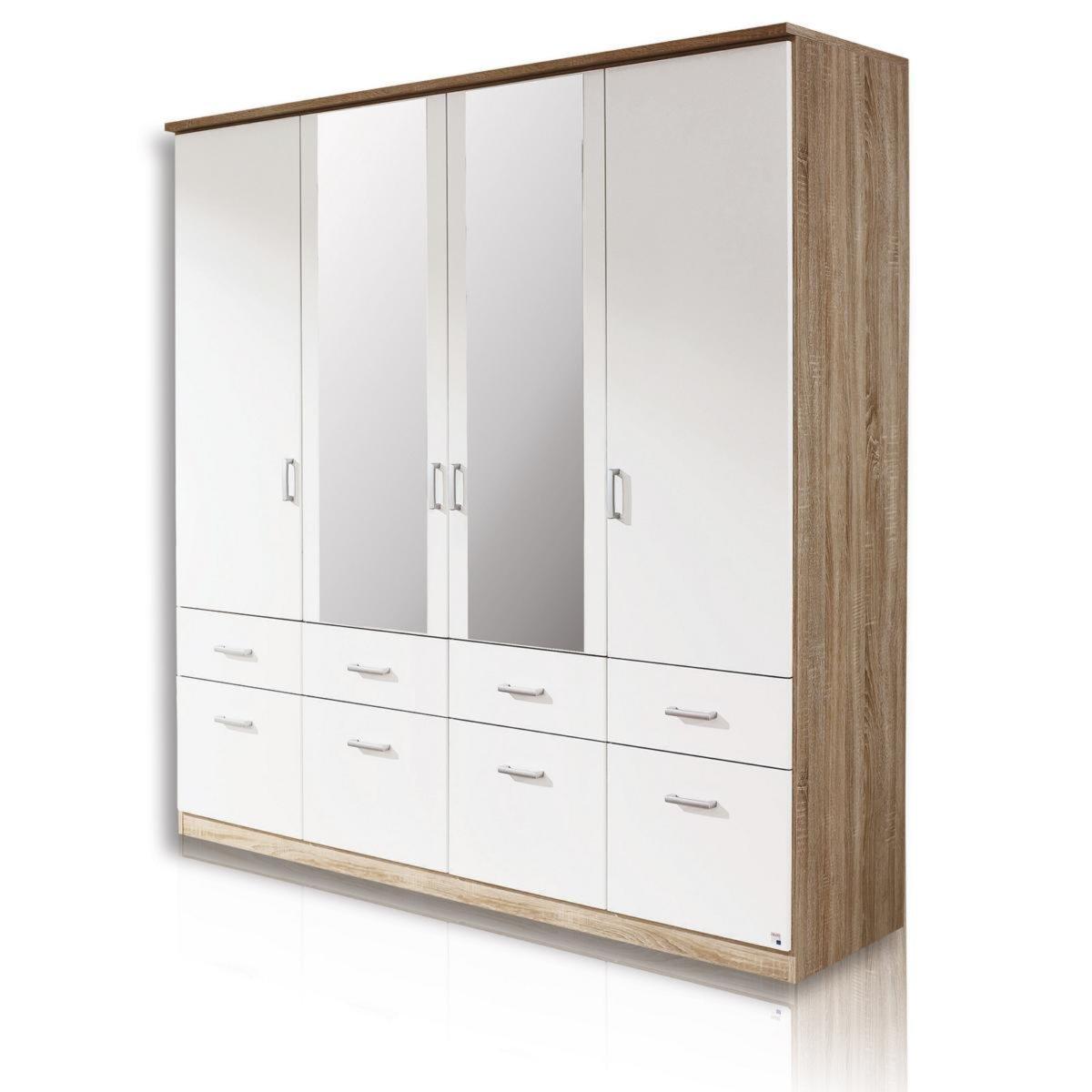 Kleiderschrank BREMEN - Sonoma-Eiche-Weiß - 181 cm breit ...