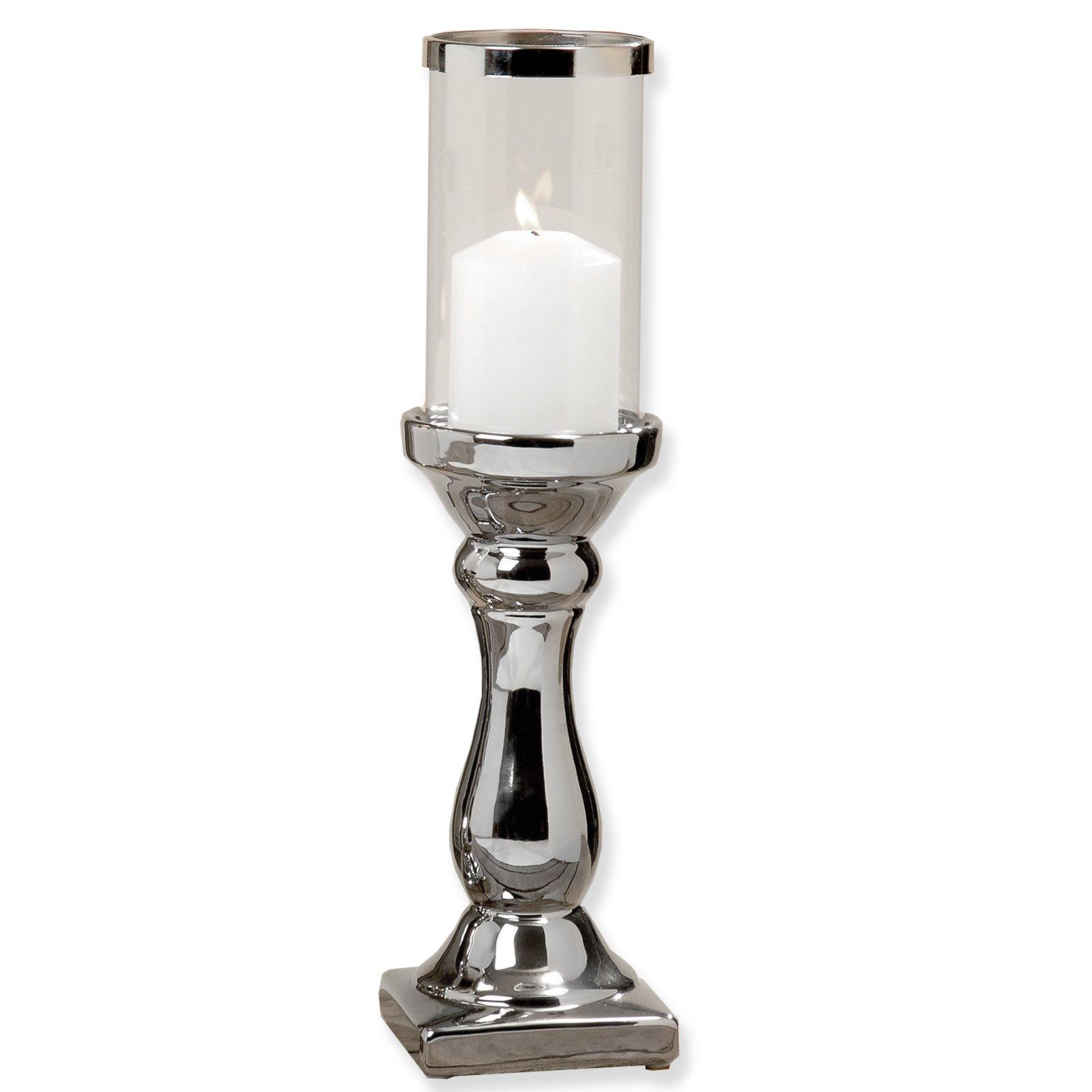 Kerzenst nder maseru silber 31 cm hoch kerzen for Deko silber wohnzimmer
