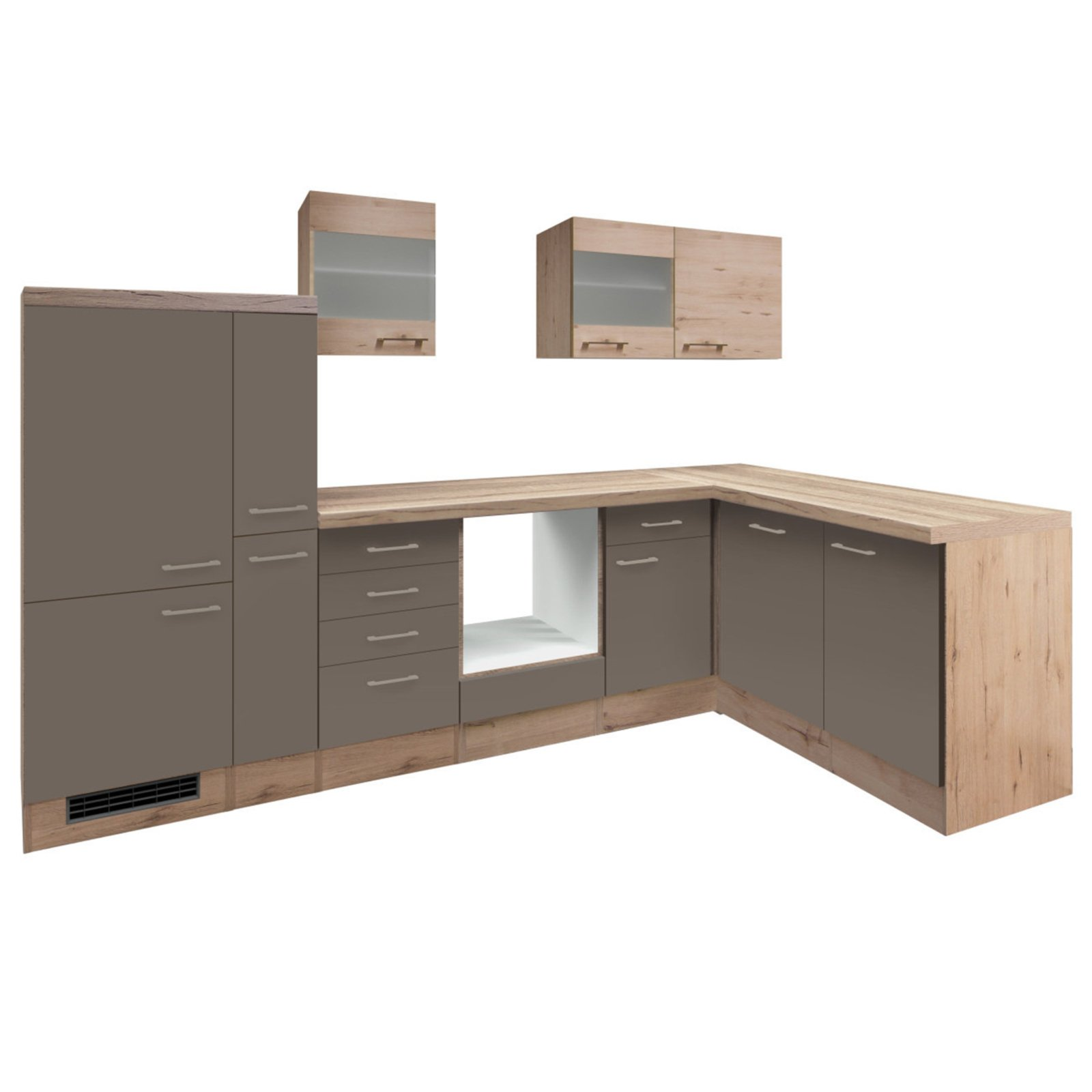 Winkelküche RIVA - Quarz-Cubanit-San Remo - 310x170 cm