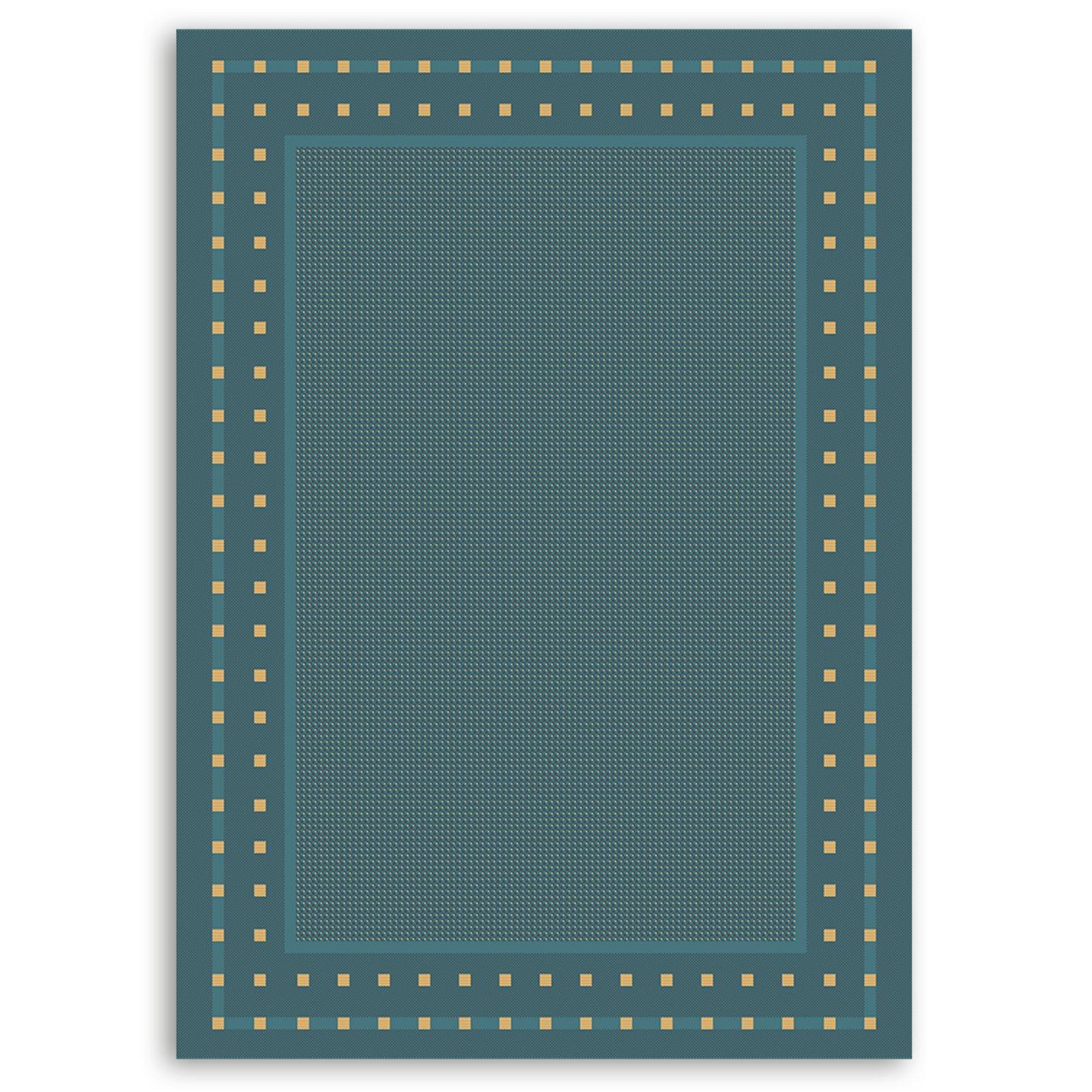 Teppich OSLO  blau  160×230 cm  Gemusterte Teppiche