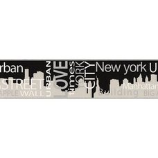 A.S. Creation Papier-Borte BOYS & GIRLS 4 - grau metallic - New York - 13 cm