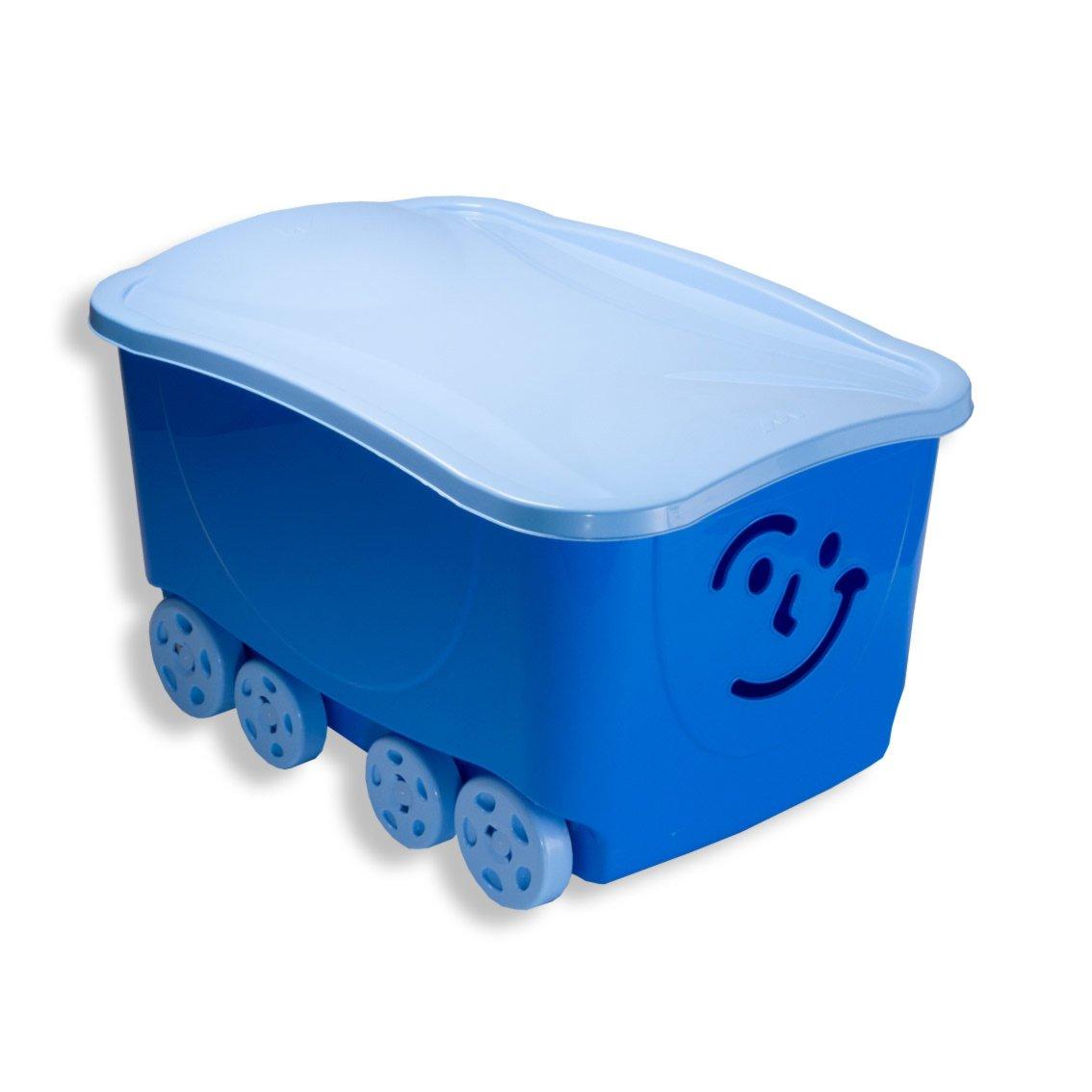 rollbox fancy blau mit deckel auf rollen spielzeug kinder jugendzimmer. Black Bedroom Furniture Sets. Home Design Ideas