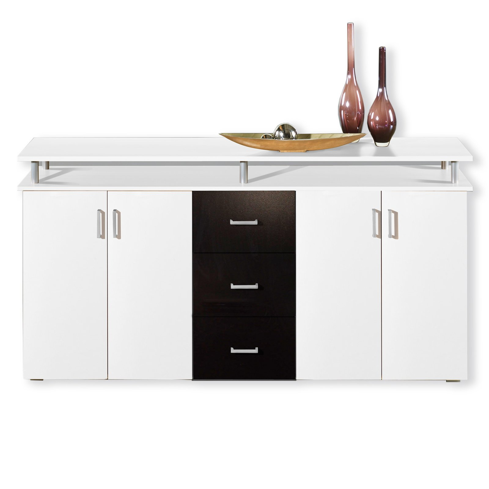 sideboard lift wei schwarz 178 cm kommoden. Black Bedroom Furniture Sets. Home Design Ideas