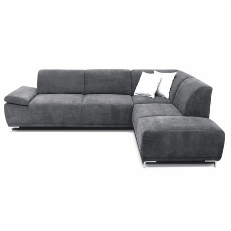 boxspringsofa anthrazit ottomane rechts ecksofas l form sofas couches m bel roller. Black Bedroom Furniture Sets. Home Design Ideas